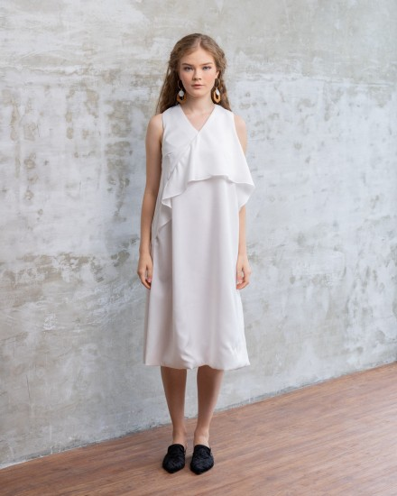 AZCA DRESS WHITE