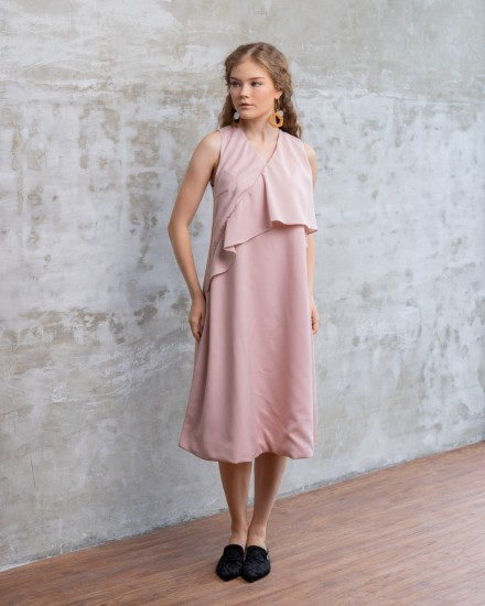 AZCA DRESS NUDE