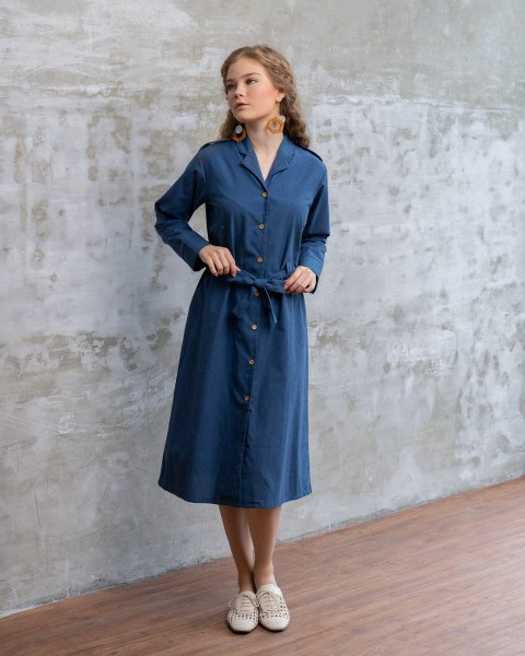 LARA SHIRT OUTER/DRESS DENIM