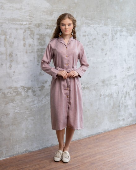 LARA SHIRT OUTER/DRESS BLUSH