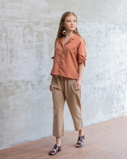 LEVA SHIRT BROWN