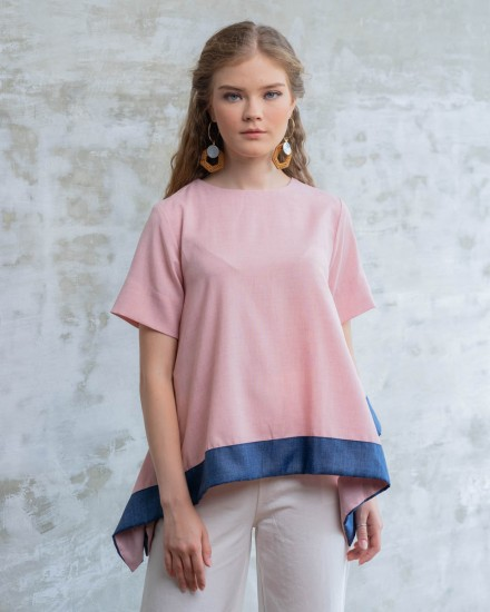 HANDKERCHIEF TOP PINK