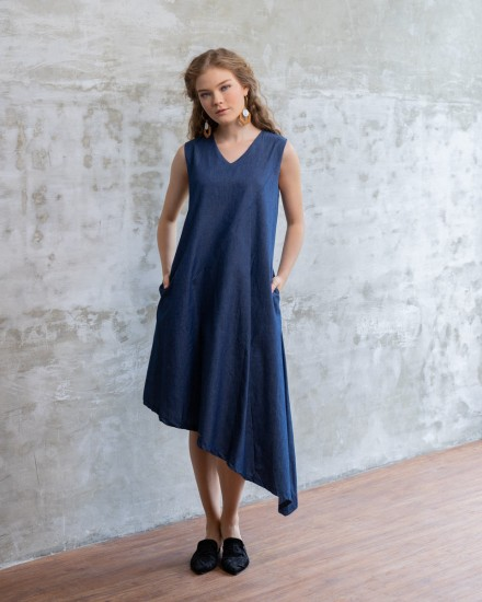 sella dress denim