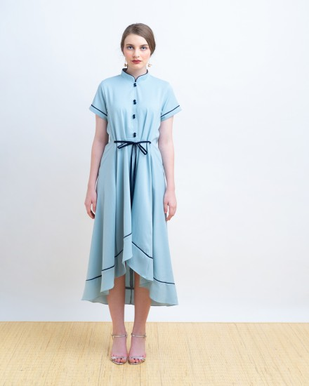 HUANG QIPAO DRESS BLUE