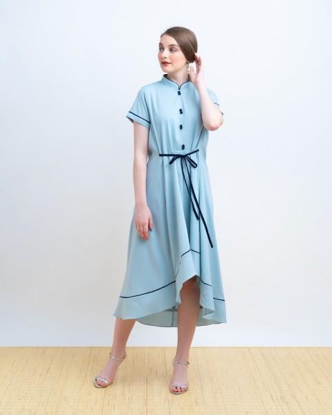 HUANG QIPAO DRESS BLUE