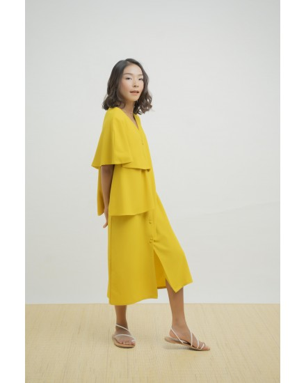 DORONA DRESS OUTER YELLOW