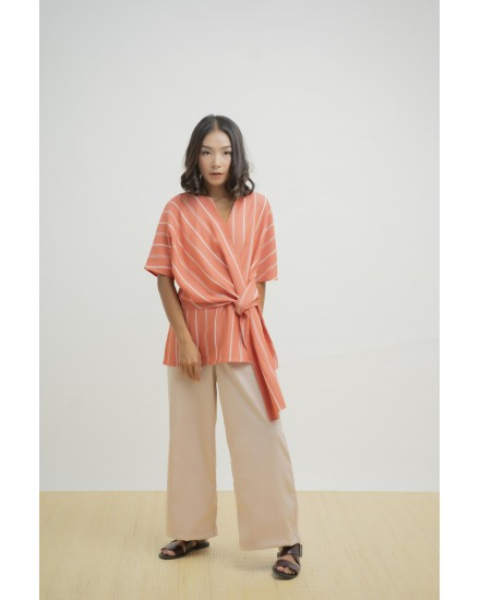 LORNA TOP CORAL RED