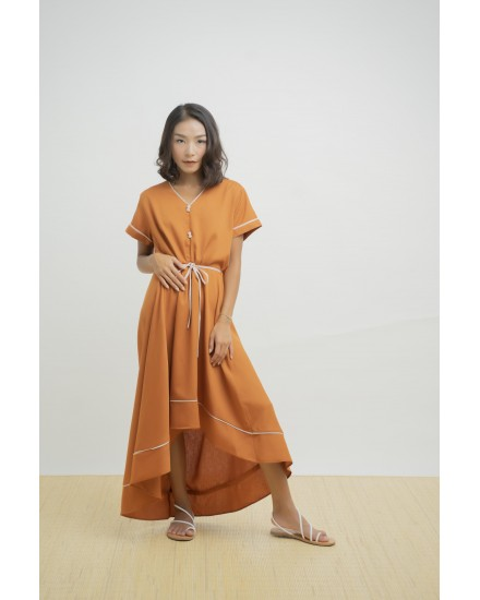 HANA DRESS BRICK