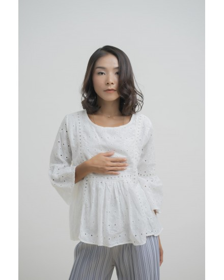 MARIDA LACE TOP WHITE