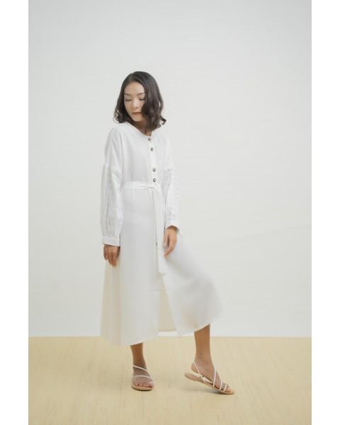 VENOLA DRESS OUTER WHITE