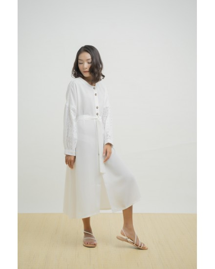 VENOLA DRESS OUTER WHITE