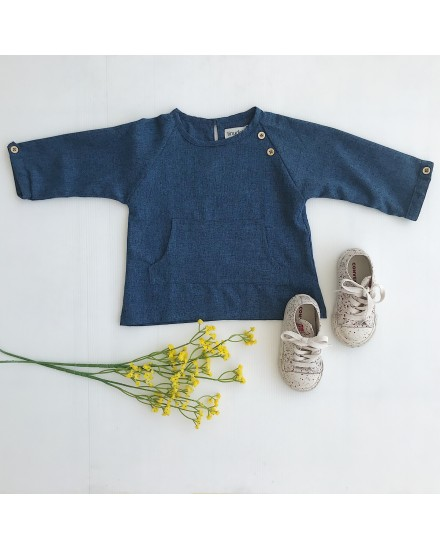 BREXTON TOP NAVY