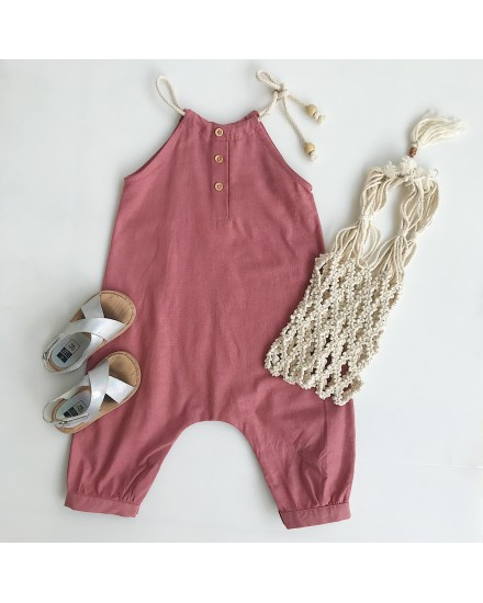 KEI JUMPSUIT CORAL RED