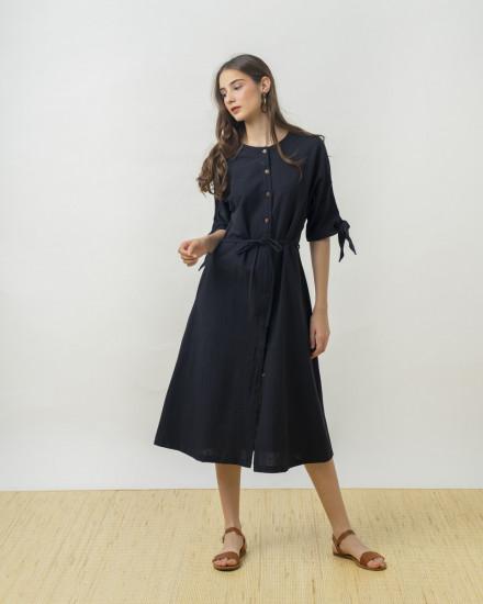 KALEXA OUTER DRESS BLACK
