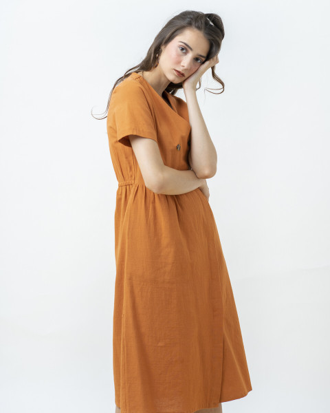 MIZUKI DRESS BRICK