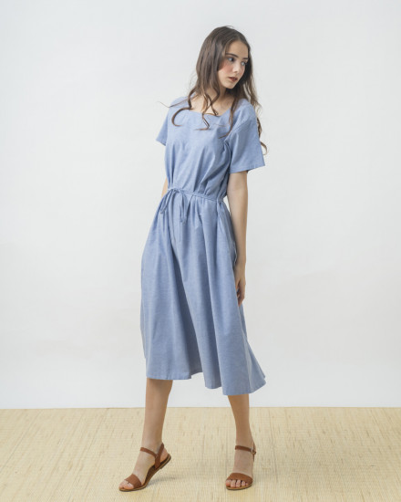 KEIRO DRESS BLUE