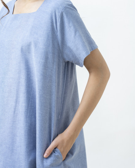 KEIRO DRESS BLUE