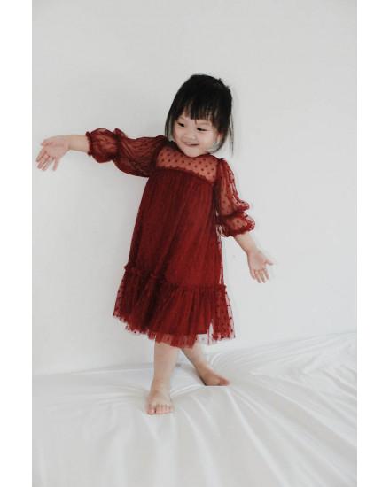 SARA DRESS RED