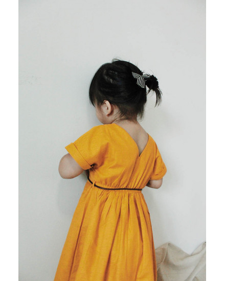 MINI MISAKI DRESS MUSTARD