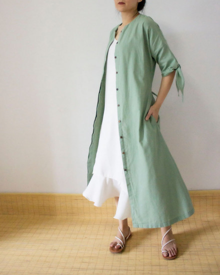 KALEXA OUTER DRESS SAGE