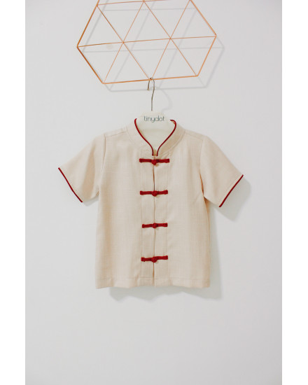 LUNG QIPAO SHIRT CREAM