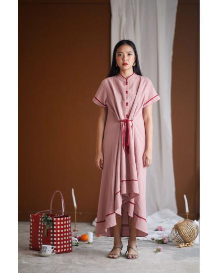 HUANG QIPAO DRESS BLUSH