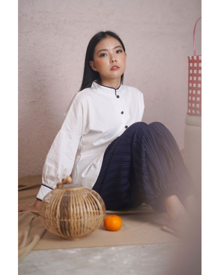 rou qipao shirt white