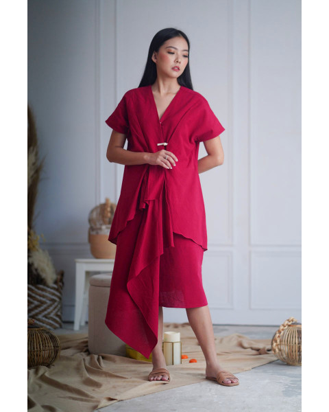 QUAN DRESS RED