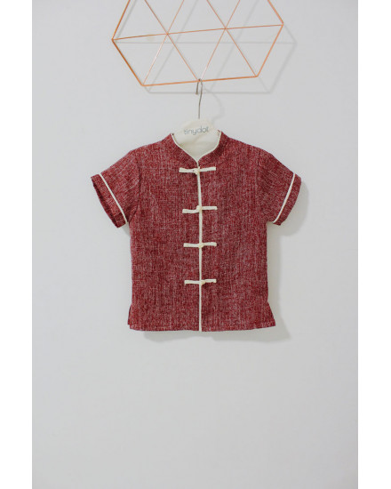 LUNG QIPAO SHIRT RED