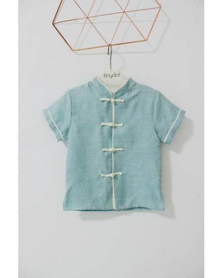 LUNG QIPAO SHIRT MINT