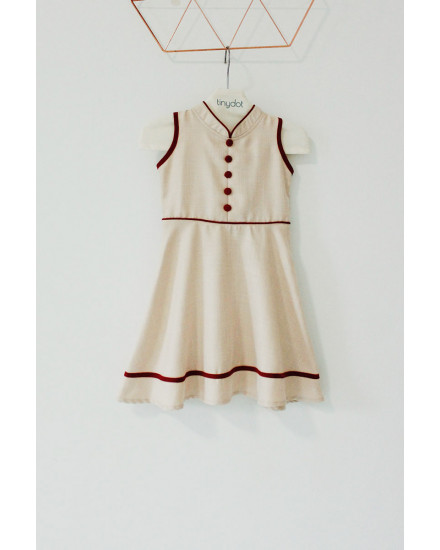 YUAN QIPAO DRESS CREAM