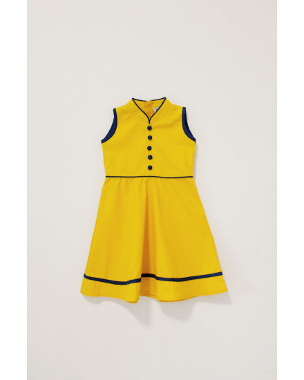 YUAN QIPAO DRESS YELLOW