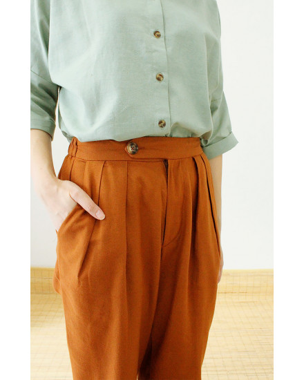 LEONARD PANTS BROWN