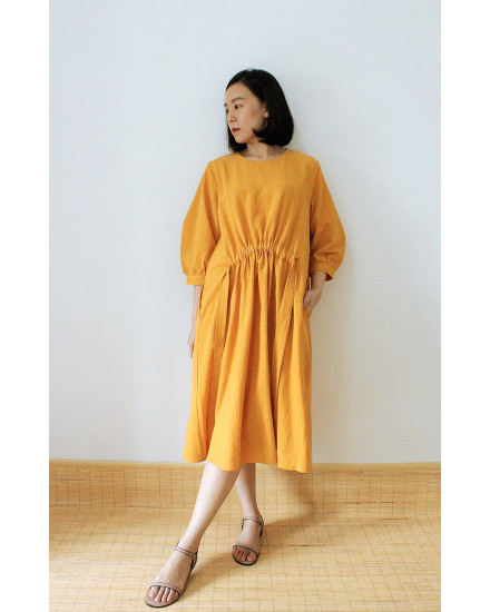 HENORI DRESS MUSTARD