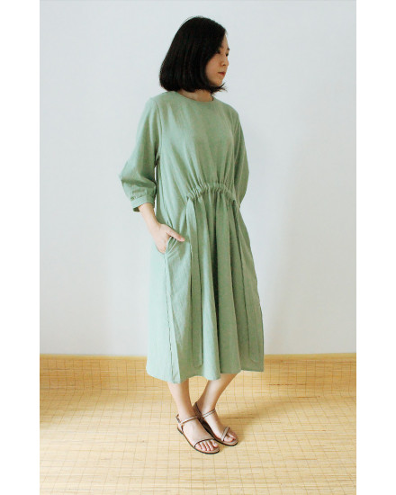 HENORI DRESS SAGE