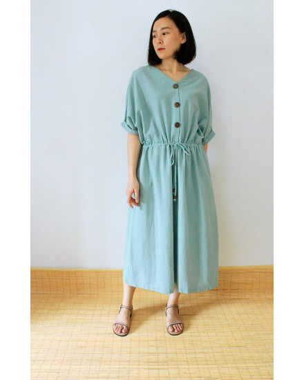 MISAKI DRESS DUSTY BLUE