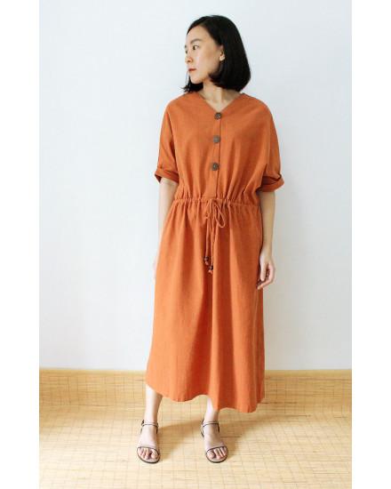 MISAKI DRESS BRICK