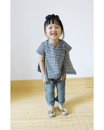 MINI NADKERCHIEF TOP GINGHAM