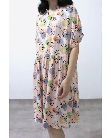 MAYDA DRESS SALMON
