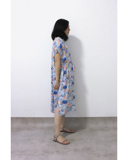 KANORI DRESS FLORA BLUE