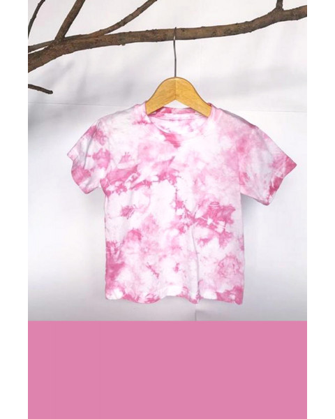MINI TIEDYE T-SHIRT PINK