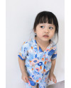 MINI MORA SHIRT FLORA BLUE