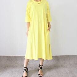 Everyday dress in fresh lemon 239,000. You can also order in long sleeves or sleeveless. Custom size available
