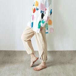 Kama pants khaki 249,000 with gio shirt candy
