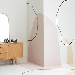 Unleash your inner artist : paint the wall to the floor #inspiration