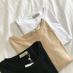 Everyday Tshirt is back : black/nude/white .