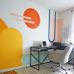Workspace mural by Abbey Chiavario