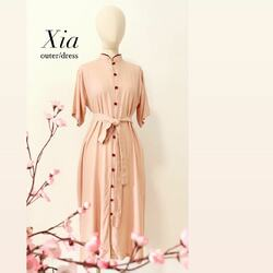 Xia dress/outer . Made with thick rayon, comy and cozzy for the whole day. Available for PO. You can use it as an outer too.