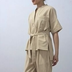 Ryuko top khaki 229,000. Inspired from safari uniform
