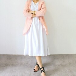 . Smart casual mix and match : Everyday dress white 239,000 Hyeji outer pink 239,000